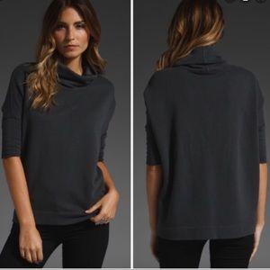 James Perse black funnel neck sweatshirt L 3